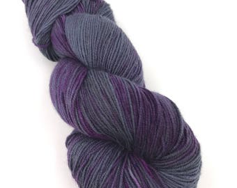 Hand Dyed Yarn - 4 ply (Fingering) - Suited and Booted - Berry