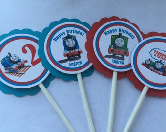 Thomas the Train cupcake toppers. Thomas the train birthday party. Thomas the train party. Thomas the train birthday.