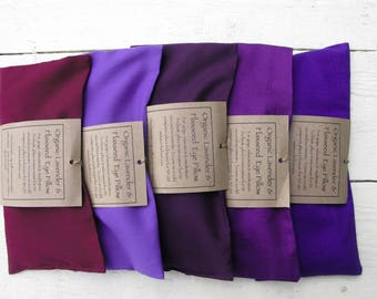 Multiple Buy of Organic Flaxseed & Lavender Soothing Eye Pillows/Meditation/Relaxation/Yoga/Savasana/Wellbeing/Yoga Meditation