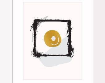 1 of 4 Egg Prints | Set of 4 | Egg | Prints | Yolk | Wall Art | Contemporary Art | Modern Art | Gift | Fine Art | Graphic Design | Designs