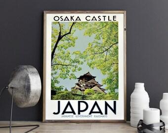 Japan Poster Osaka Poster Japanese Poster Art Japanese Decor Japanese Wall  Art Japanese Prints Japanese Art Part 30