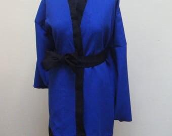 Top dark blue & Black kimono with belt