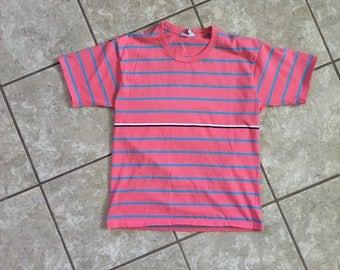Forenza Sportswear Striped Shirt Made in USA Size M 100% Cotton