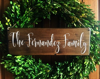 Personalized Sign | Personalized Family Sign | Welcome Sign | Welcome Door Sign | Front Door Sign |  Last Name Sign | Family sign |