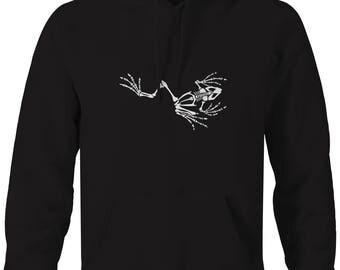 Frog Skeleton Marines Seal Navy Army Military  Hooded Sweatshirt- Z121