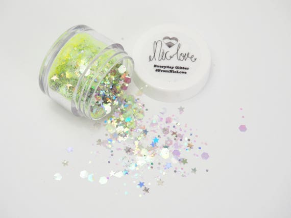 Ethereal Face jewel and glitter combo