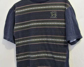 Marked Down@@A Boy's Vintage 90's,Neat Blue TRIBAL Type Short Sleeve Top By UNIONBAY.M(12)