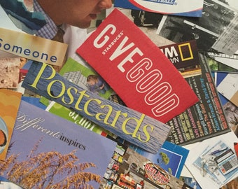 Collage Scapbooking Kit l Magazine Image/Phrase Clippings 125 pieces