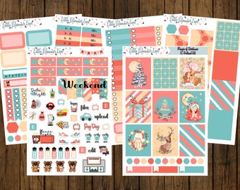 Magic of Christmas Weekly Vertical Sticker Kit with A La Carte options for No-White Space and White Space Planners