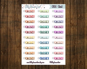 Clean Coset Multi-Color Word Planner Stickers for all Planners