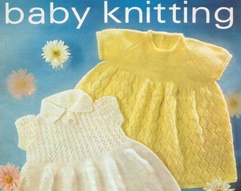 Vintage Knit Pattern Two Beautiful Baby Dresses Lister knitting pattern instant download only