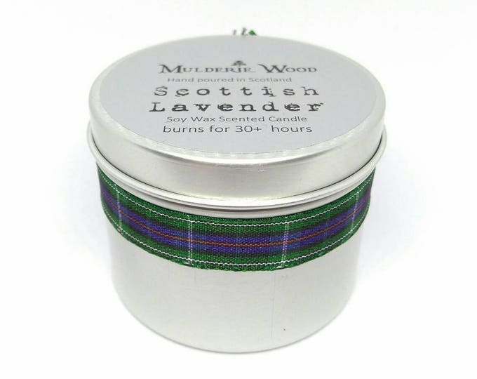 Scottish Lavender Handmade Soy Wax Tin Candle 30+ hours burn