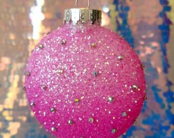 Pink Sprinkle Christmas Ornament