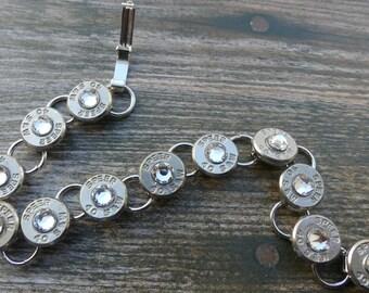40 Caliber Bullet Tennis Bracelet