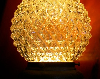 vintage hobnail globe ceiling light with collar