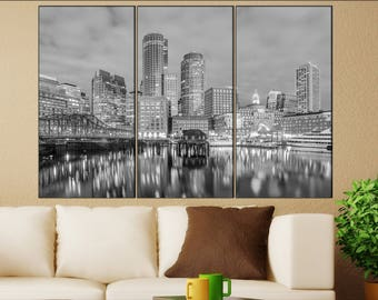 Exceptionnel Boston Skyline Canvas Wall Art Boston Canvas Wall Art Art Boston Wall  Decoration Boston Large Canvas