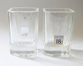 Johnnie Walker Platinum Rocks Glass cut from 750ml bottles 18 year old scotch whiskey