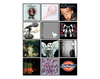 DEFTONES 12 pack of album cover discography magnets