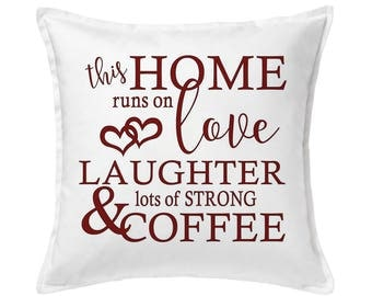 Coffee Lover Pillow, Coffee Lover Gift, Housewarming Gift, Coffee Gift, Gift for Her, Gift for Mom, Gift for Wife