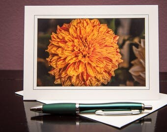 Dahlia No.6-Greeting cards-Note Cards-Flower-Nature-Happy Birthday-Family-Love-Photo Card-Floral-Wedding-Celebration-Congratulation-Gift