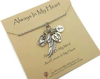 Miscarriage jewelry, Loss of Baby, Memorial Jewelry, Keepsake in Remembrance of Son or Daughter, Memorial Necklace Cross, Always In My Heart