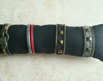 fabric for bracelets jewelry display