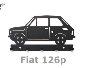 Key rack Fiat 126p, design, gift, idea