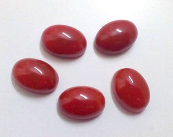 10-P Wholesale Lot Of  Natural Red Onyx oval Shape Loose Gemstone Cabochon for jewelry
