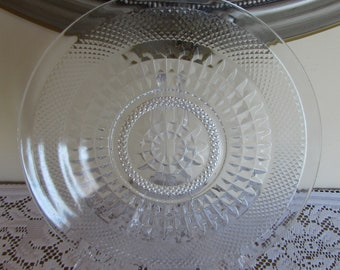 "Glass 12"" Serving Dish Made in Italy"