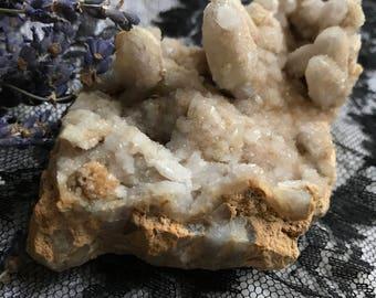 Spirit Quartz, large size, white frosty Quartz/ citrine