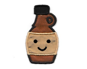 Happy Syrup Bottle, Machine Embroidery Design