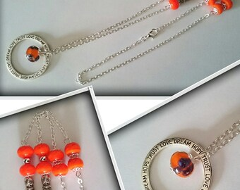 "Unique ""joyful"" _ spun Lampwork beads necklace"