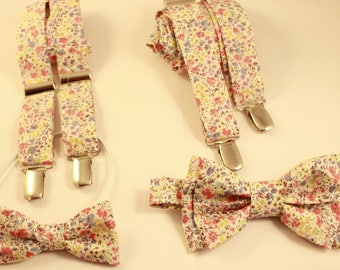 Duo father and son bow tie & suspenders liberty