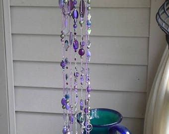 Whimsical windchime/ purple