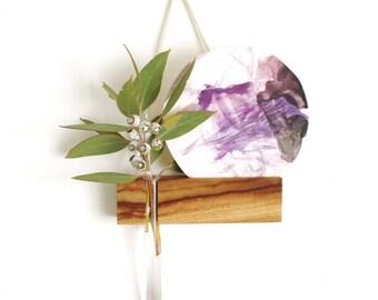hanging vase, hanging frame, photo frame, picture frame, reclaimed wood, minimalist, minimal homewares, postcard frame, test tube vase