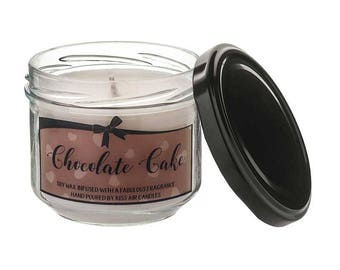 Chocolate Candle, autumn candle, chocolate cake candle, gift for chocolate lover, chocolate gift, baking, chocolate, scented candle,