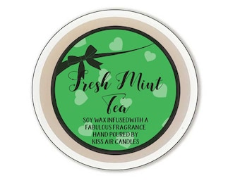 Mint wax melt, refreshing scented wax tart, spring wax melt, for the home, Soy Wax Tarts, Vegan Friendly, wax for burner, candle tart