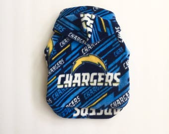 Chargers Fleece Dog Hoodie, Pet Sweater for Small Breeds