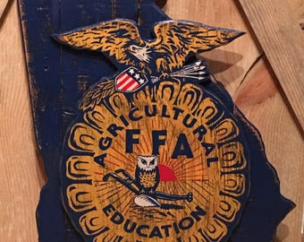 State Wooden FFA Sign