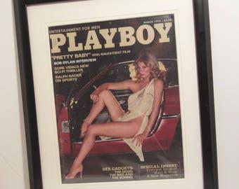 Vintage Playboy Magazine Cover Matted Framed : March 1978 - Debra Jensen