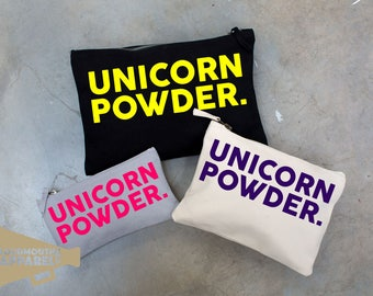 Unicorn Powder Make Up Bag Pouch Make Up Case