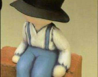 1987 Clay Magic J481 Amish Boy Shelf Sitter Ceramic Mold   S1
