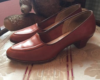 1940s brown leather shoes