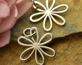 Sterling Silver, Daisy Charm, Open Petal, Daisy Petals, Silver Daisy Charm, Daisy Jewelry, Flower Charm, Silver Flower Charm, Flower Jewelry