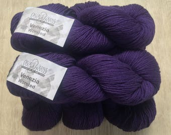 Cascade Venezia Worsted + 4 FREE Patterns 13.50 +1.50ea to Ship Merino Wool & Silk 220yd 100g - Purple 156 - Soft, Smooth, Drape MSRP 16.95