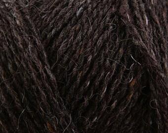 Rowan Felted Tweed 154 - 10.25 +1.25ea to Ship - Treacle #154 Dark Brown + FREE PATTERNS Shown. MSRP 12.95
