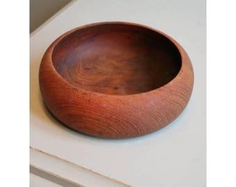Vintage wooden dish Danish teak/mid century