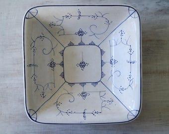Vintage bowl, ceramic, Villeroy & Boch, Blue, white
