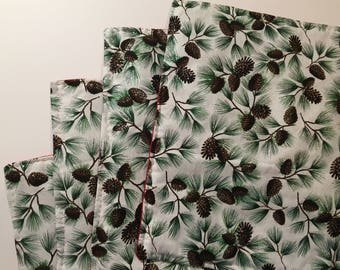 Pinecone Placemats - Free Shipping - Glitter Placemats - Holiday Placemats