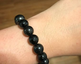 PROTECTION BRACELET: Black Tourmaline and Shungite Bracelet